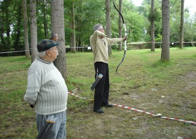 Une journée conviviale de tir à l'arc à l'île d'Ager-CRSM